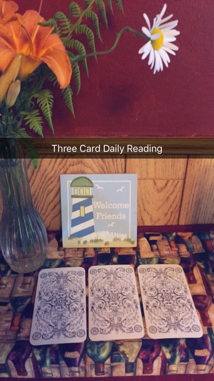 Classic Three Card Daily Reading for you – Using the Tarot de